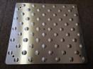 Bande podotactile en inox 450 x 420 x 1.5 mm